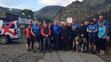 The group before their Scafell challenge