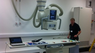 New X-ray machine in hospital