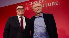 Tom Watson with Jeremy Corbyn