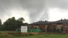 A tornado has been spotted over Duston near Northampton.