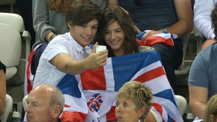 Louis Tomlinson from One Direction with partner Eleanor Calder