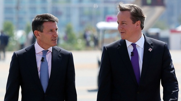 Prime Minster David Cameron with LOCOG Chairman Lord Coe
