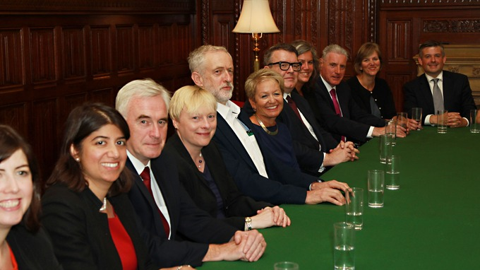 Image result for corbyn with shadow cabinet