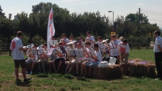 Salvation Army band entertains crowds at Hadleigh Farm