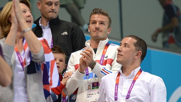 David Beckham supports Tom Daley