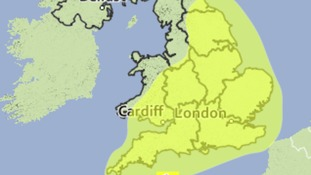 Met Office Warning Of Heavy Rain