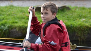 Oliver Croker during an outdoor education session