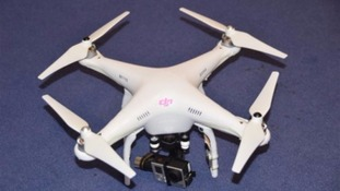The drone Nigel Wilson used to film his videos
