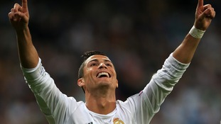 Cristiano Ronaldo knows where the goal is.