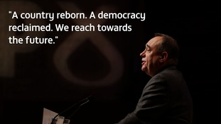 Revealed: The speech Alex Salmond would have delivered if Scotland voted for independence