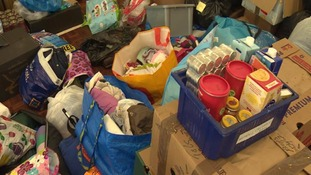 Aid centres have been inundated with donations.