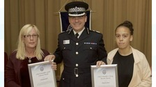 Christina Gavin and Sheyanne Jarvis received Chief Constable's Award for their bravery and help