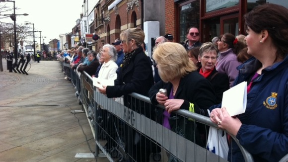 Crowds in Fareham