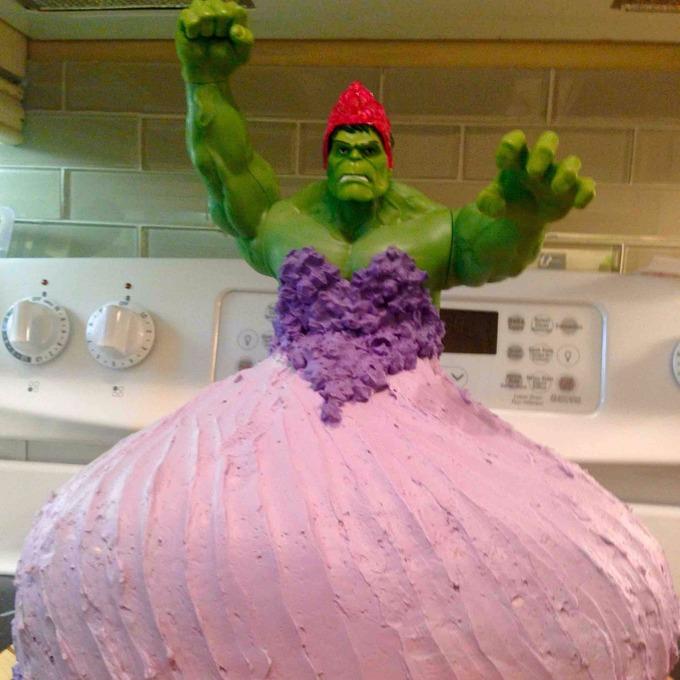 Parents Smash Gender Norms With Hulk Princess Birthday Cake Itv News
