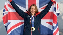 Lizzy Yarnold won a gold medal at the Sochi winter olympics