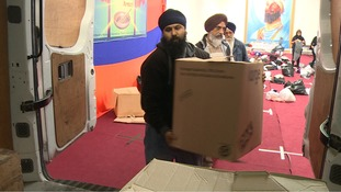 Packing taking place in Walsall this morning.