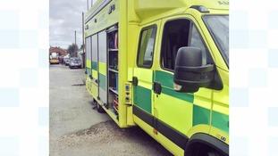 An ambulance on scene