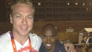 Sir Chris Hoy shares pictures of Team GB party