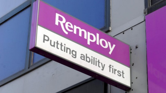 Remploy office sign