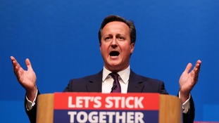Prime Minister David Cameron makes a speech in Aberdeen where he spoke for the millions across the UK he says would be