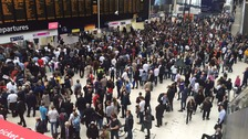 busy waterloo station