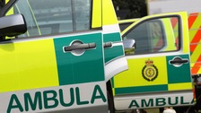 A motorcyclist has been seriously injured in a crash