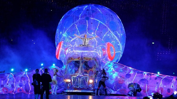 Fat Boy Slim performs during the Olympic Games Closing Ceremony