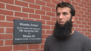 Ashes hero Moeen Ali opens £2m sports complex at his old school