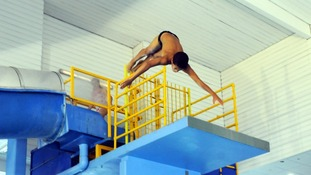 Diving from a high board