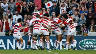 Japan has achieved a shock 34-32 win over South Africa