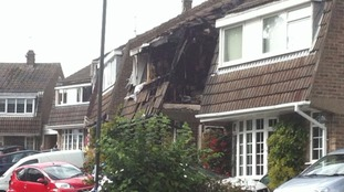 Emergency crews were called out after reports of an explosion by neighbours.