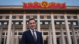 Osborne outside Beijing National Museum