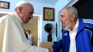 Pope meets former Cuban president Fidel Castro