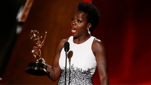 Viola Davis becomes first black woman to win drama lead Emmy on disappointing night for Brits
