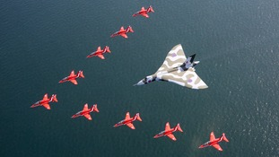 Vulcan Bomber makes one last flight