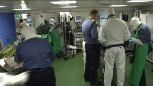 Naval medics in action
