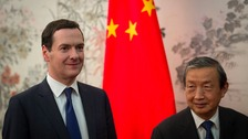 Chancellor George Osborne with Chinese Vice Premier Ma Kai