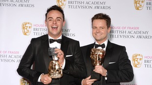 Anthony McPartlin and Declan Donnelly with their BAFTAs