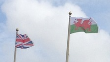 British and Welsh Flags