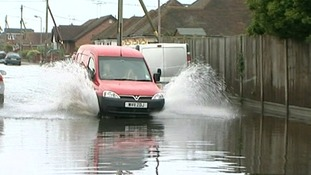 Homes and businesses were flooded in Canvey Island in July 2014.