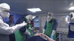 Naval medics in action