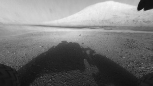 Curiosity reflection on Mars
