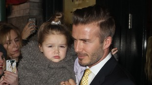 Harper Beckham has told Victoria she wants to play football like her dad.