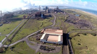 An aerial shot of the SSI Redcar plant
