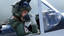Prince William in Chipmunk aircraft
