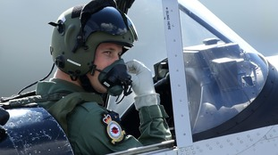 Prince William took a flight in a Chipmunk aircraft with Squadron Leader Duncan Mason.