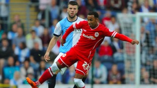 Nicky Maynard in action for Cardiff City.