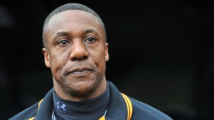 Terry Connor supported by Wolves player