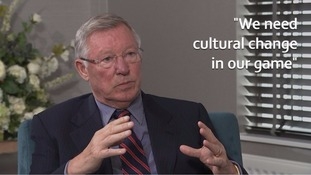 Sir Alex Ferguson backs homegrown quotas and tells ITV News football needs a 'cultural change'
