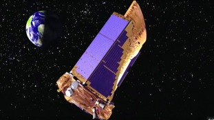 NASA's Kepler spacecraft in orbit.
